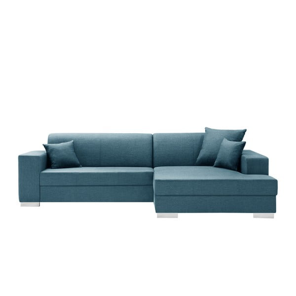 Tyrkysově modrá sedačka Interieur De Famille Paris Perle, pravý roh
