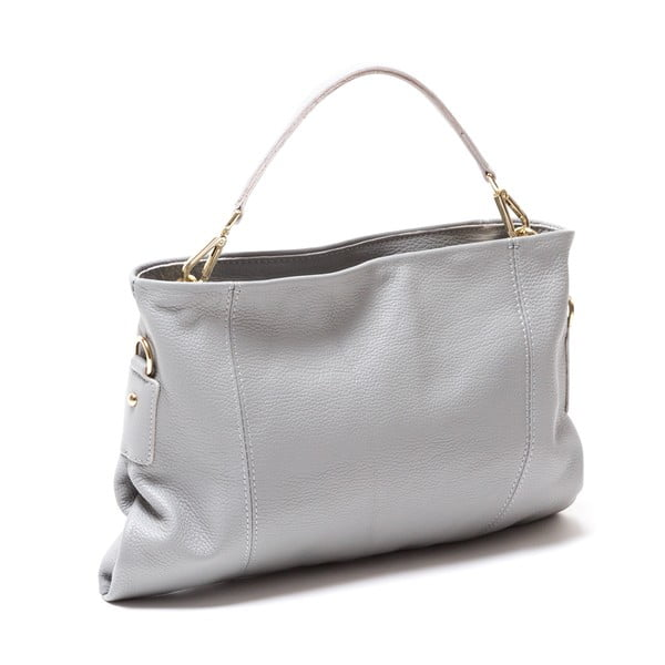 Kožená kabelka Caprice, šedá