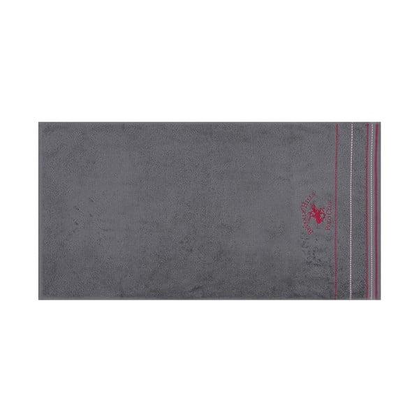 Sada 2 šedých ručníku Polo Club, 70x140cm