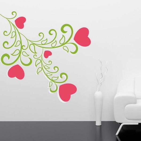 Green Flower dekoratív falmatrica