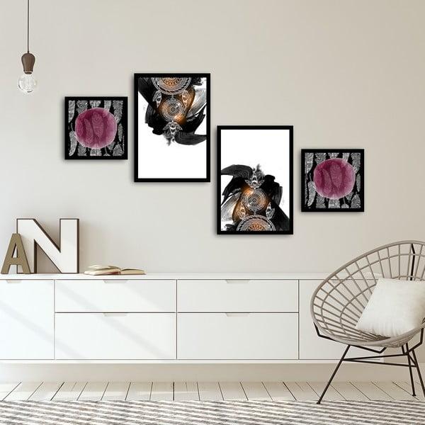 Sada 4 obrazů Alpyros Fulio