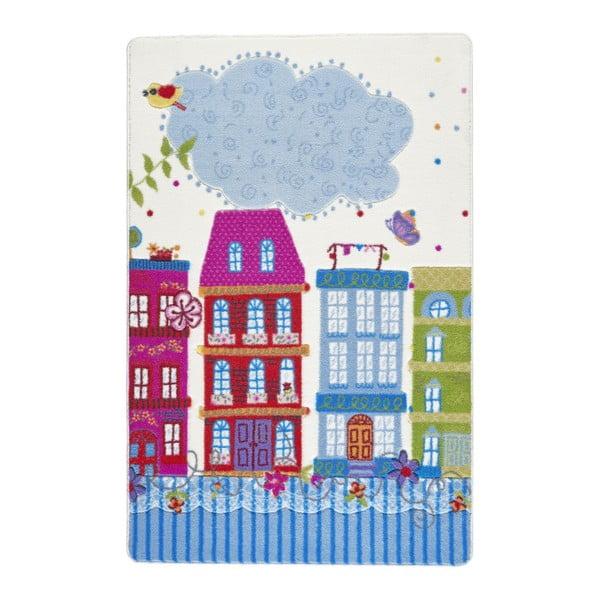 Dětský růžový koberec Confetti Sweet Home,133x190cm