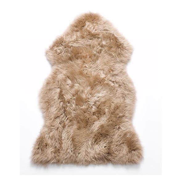 Kožešina z novozélandské ovce Taupe, 90 cm