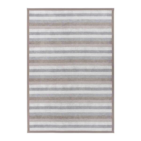 Treski Linen szürke kétoldalas szőnyeg, 80 x 250 cm - Narma