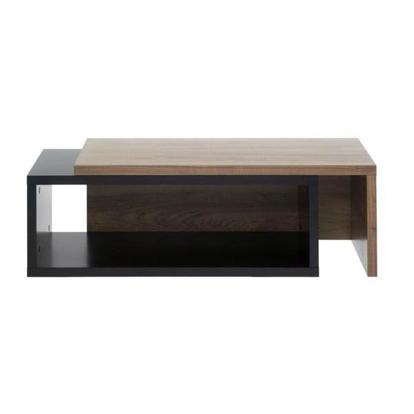 Černý variabilní stolek TemaHome  Jazz Walnut