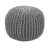 Sedací bavlněný puf HF Living světle šedé barvy, ø 45 cm