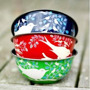 Miska Eva Hand Painted Bowl, zelená