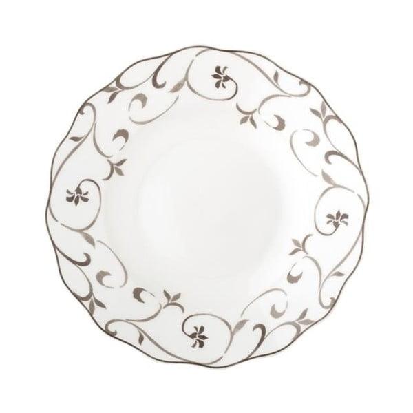 Głęboki talerz z porcelany kostnej Brandani Ricciolo Di Dama, ⌀ 22 cm
