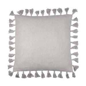 Šedý ručně vyrobený polštář na sezení Nattiot Josephine