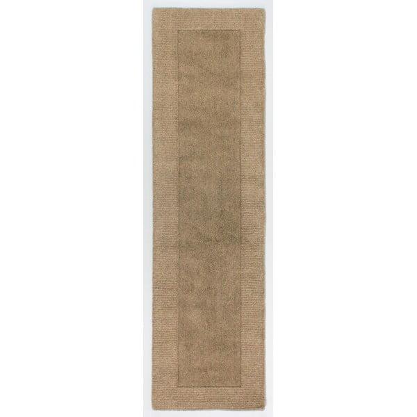 Hnědý vlněný koberec Flair Rugs Siena, 60 x 230 cm