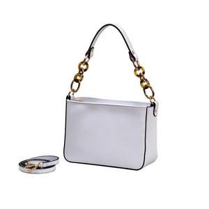 Bílá kabelka z pravé kůže Andrea Cardone Merso
