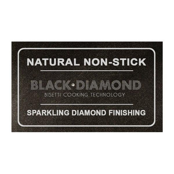 Pánev s pokličkou a šedou rukojetí Bisetti Black Diamond, Ø20 cm