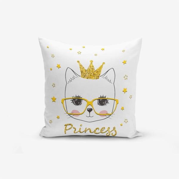 Față de pernă cu amestec din bumbac Minimalist Cushion Covers Princess Cat Modern, 45 x 45 cm