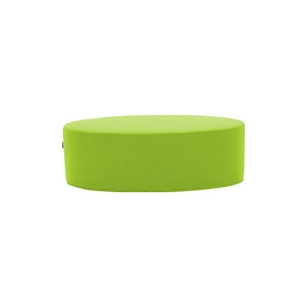 Světle zelený puf Softline Bon-Bon Valencia Lime, délka 120 cm