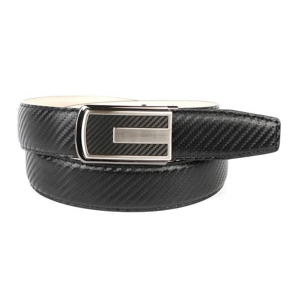 Pánský kožený pásek 3CKB10 Black, 90 cm