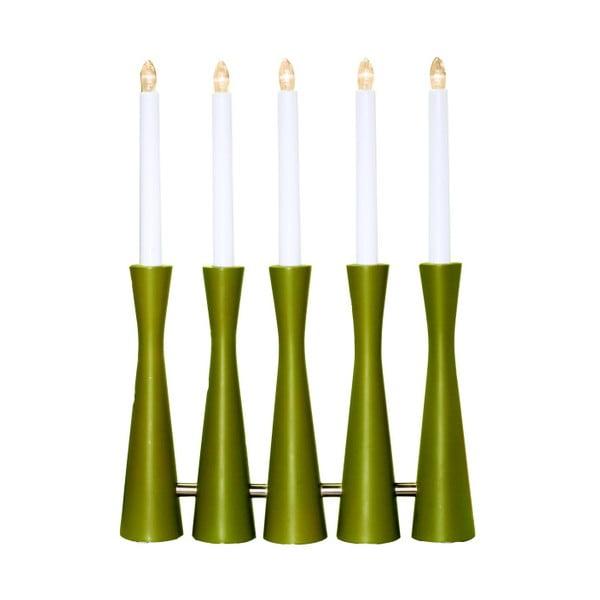 Zelený LED svícen Midja