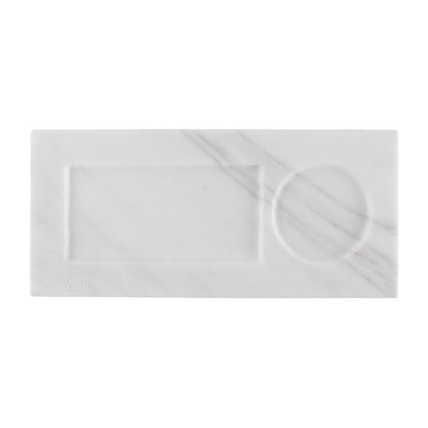 Bílý mramorový podnos Zuiver Tray