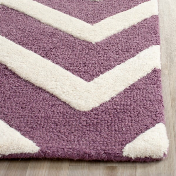 Vlněný koberec Edie Purple, 121x182 cm