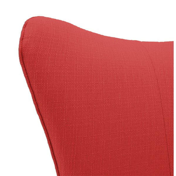 Červené křeslo Vivonita Sandy, světlé nohy