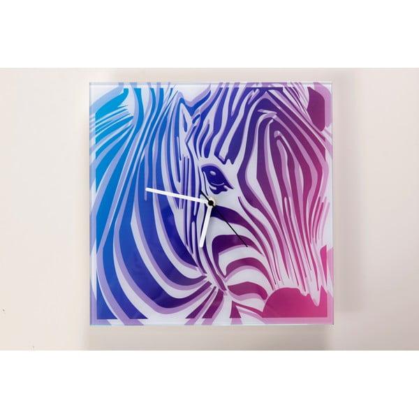 Skleněné hodiny Zebra