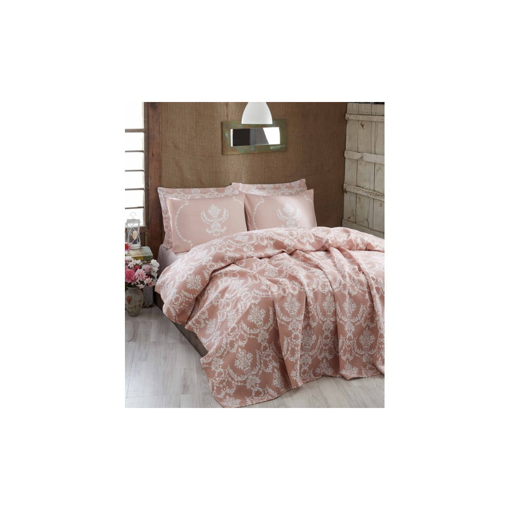 Lehký přehoz přes postel Pure Powder, 200 x 235 cm