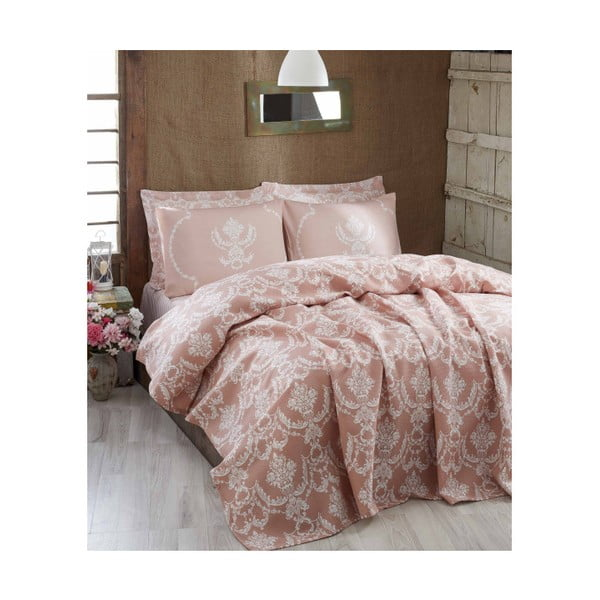 Lekka narzuta na łóżko Pure Powder, 200x235 cm