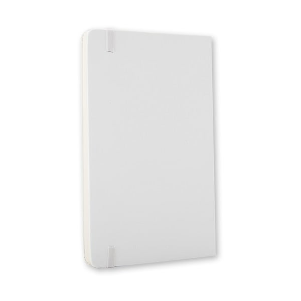 Zápisník Moleskine Hard 9x14 cm, bílý + čisté stránky