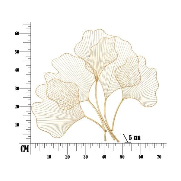 Decorațiune pentru perete Mauro Ferretti Glam Leaf, 69x62cm, auriu