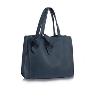 Tmavě modrá kabelka z eko kůže L&S Bags Bowtie