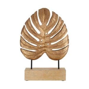 Pozlacená dekorace z mangového dřeva Premier Housewares Leaf