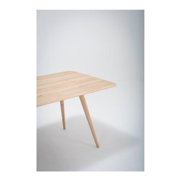 Jídelní stůl z masivního dubového dřeva Gazzda Stafa, 180x90cm