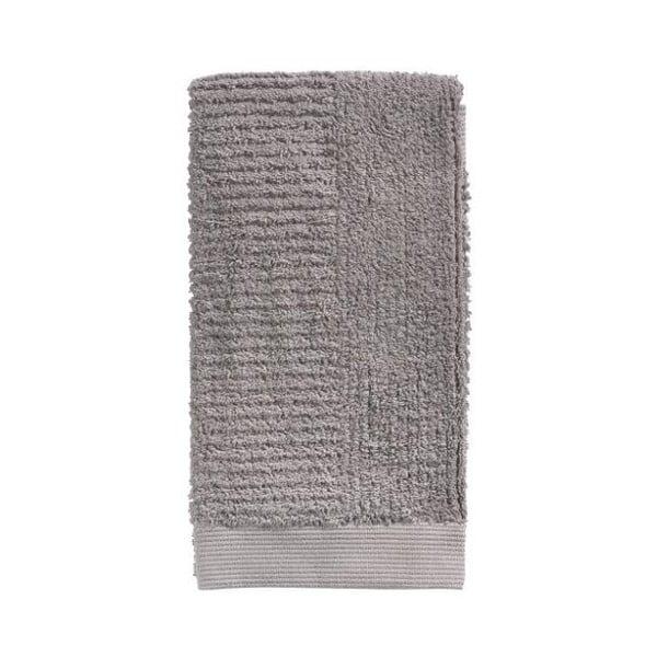Šedohnědý bavlněný ručník Zone Classic, 50 x 100 cm