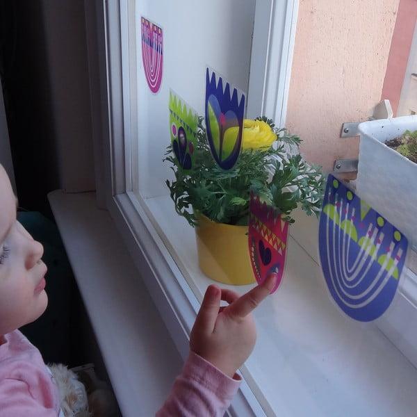 Přelepovací samolepka Slípka s pampeliškou a tulipánky