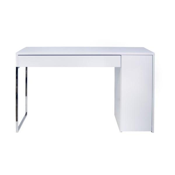 Pracovní stůl Prado White/Chrome, 130x60x75 cm