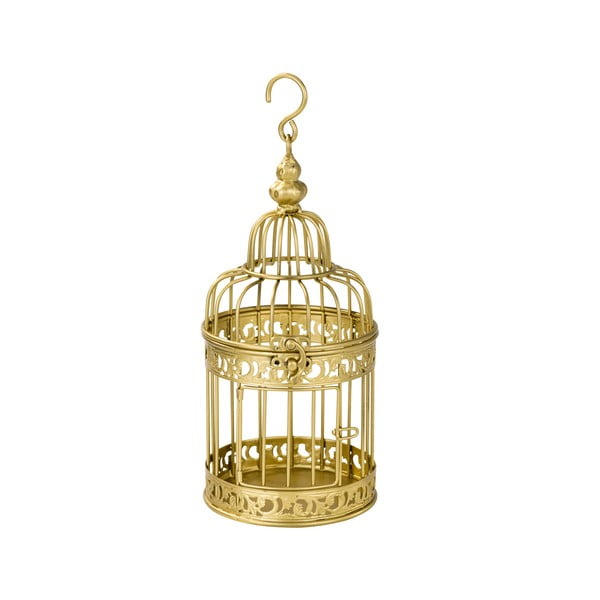 Kovová lucerna Gold Birdcage
