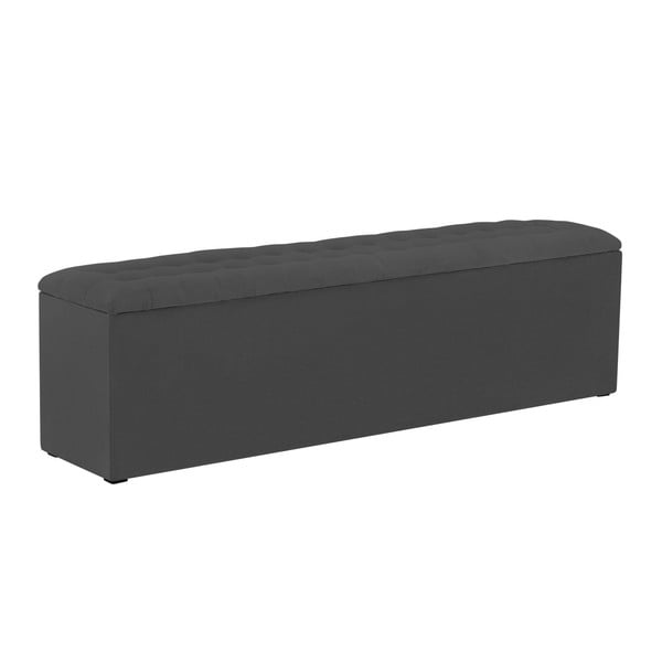 Tmavě šedý otoman s úložným prostorem Windsor & Co Sofas Nova, 180 x 47 cm