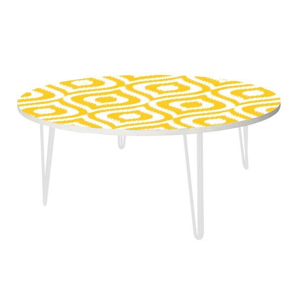 Kávový stolek Yellow Retro