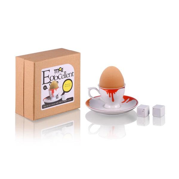Sada 2 kalíšků na vajíčka Colour se slánkou a pepřenkou