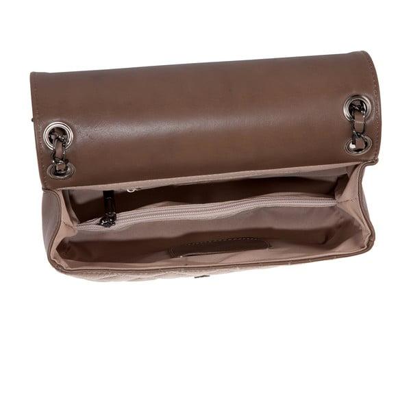 Šedohnědá kabelka z pravé kůže Andrea Cardone Paula