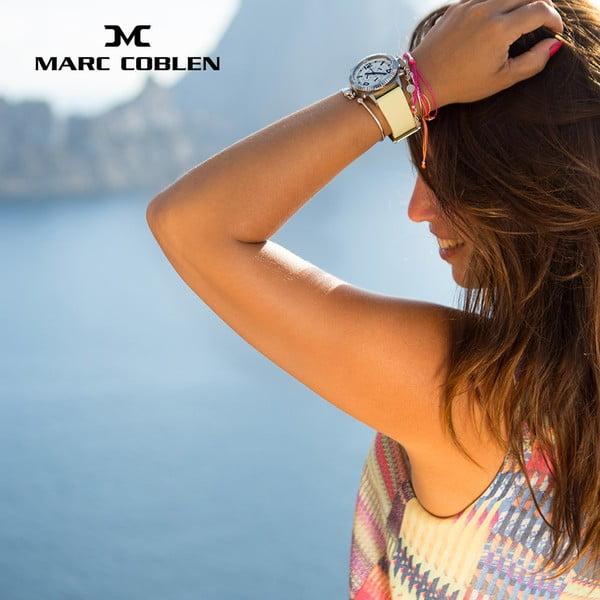 Dámské hodinky Marc Coblen s páskem a kroužkem navíc P7