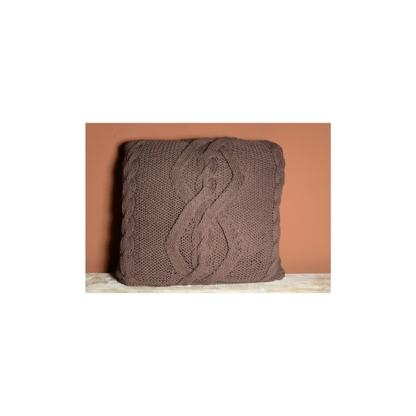Pletený povlak na polštář Indie, 45x45 cm