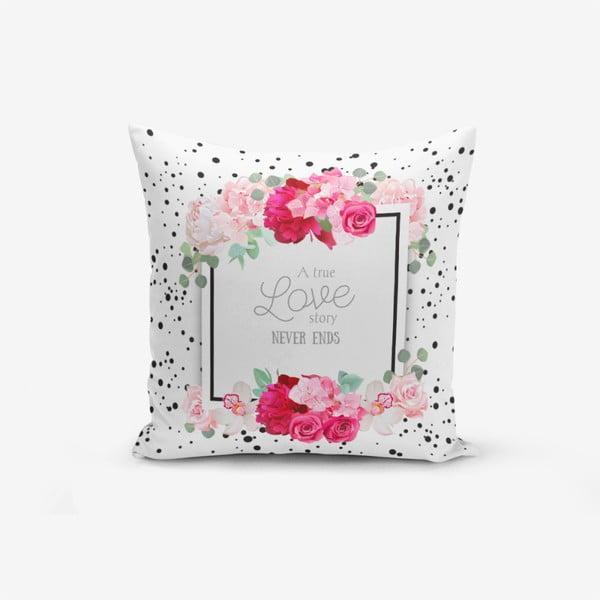 Față de pernă cu amestec din bumbac Minimalist Cushion Covers A True Love Story, 45 x 45 cm