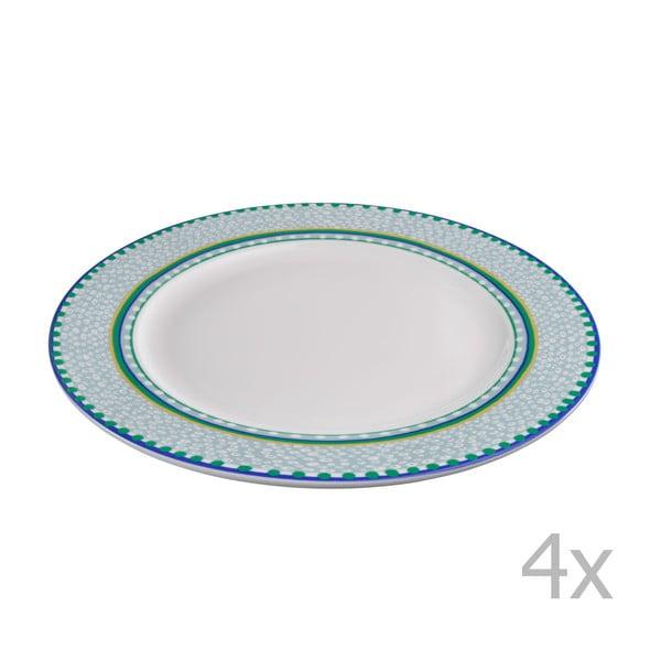 Sada 4 porcelánových talířů Oilily 27 cm, zelená