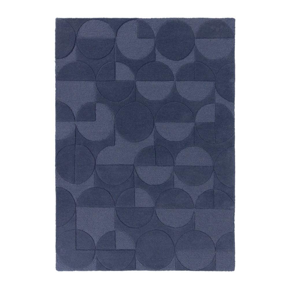 Modrý koberec z vlny Flair Rugs Gigi, 120 x 170 cm