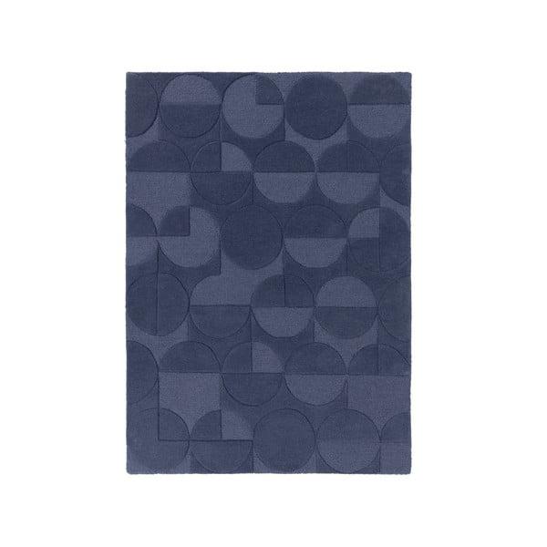 Modrý koberec z vlny Flair Rugs Gigi, 160 x 230 cm