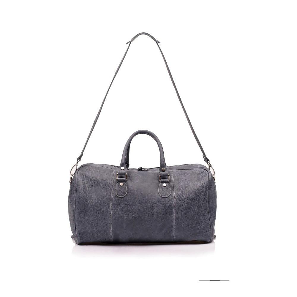 Tmavě šedá kožená cestovní taška Medici of Florence Calabro