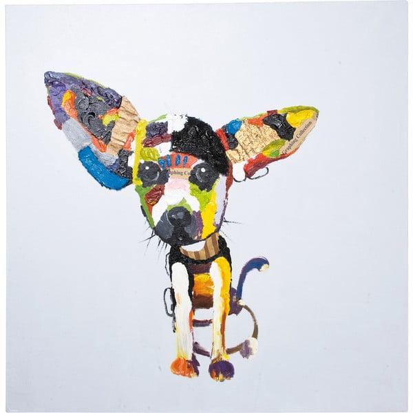 Obraz olejomalba Kare Design Chihuahua, 100 x 100 cm