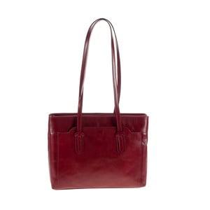 Červená kožená kabelka Ore Diece Olbia