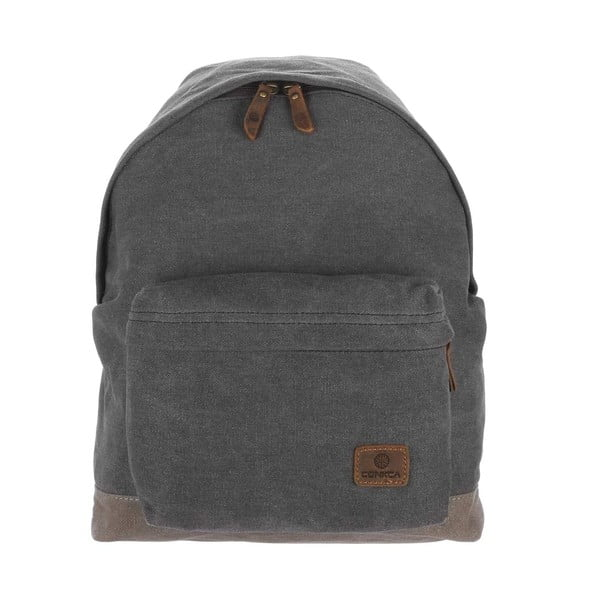 Batoh Paddington Black Canvas Backpack