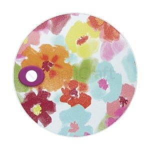 Skleněné prkénko Kitchen Craft Floral, ⌀24cm
